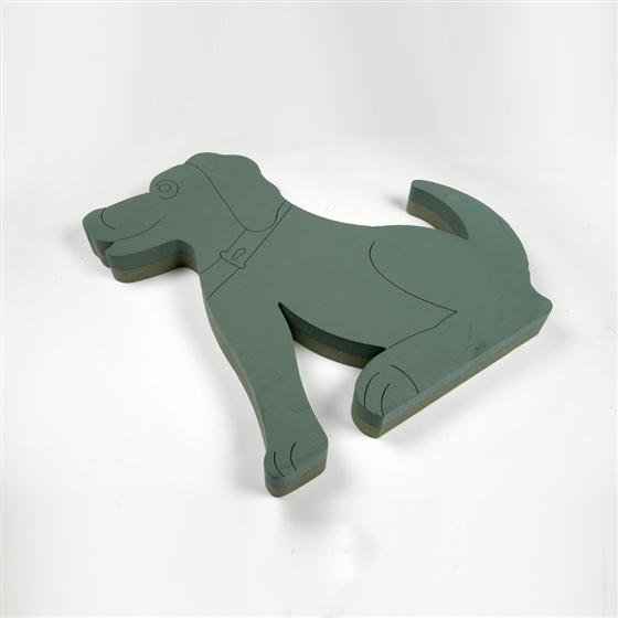 Oasis Foam Frames Sitting Dog