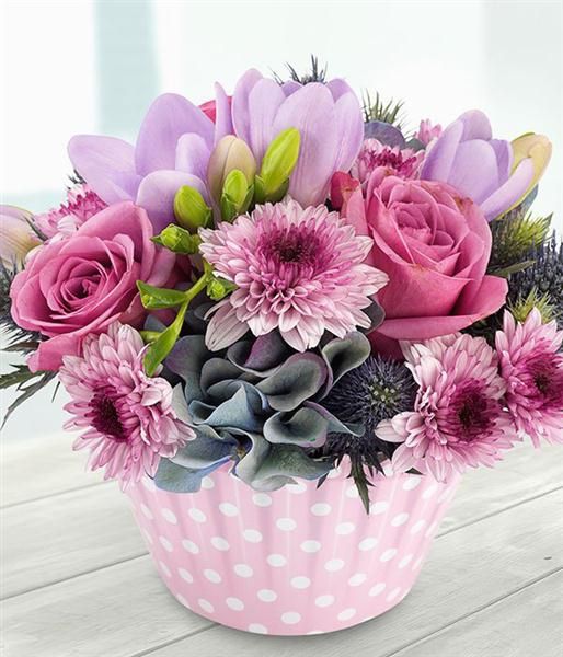 Berry Burst Cupcake Flower Arrangement   Delivery by Rays Florist