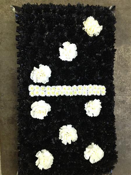 Domino Funeral Tribute Rays Florist Bespoke Local Funeral Tribute