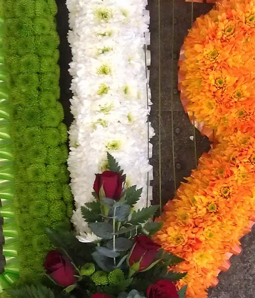 Harp As Irish Flag Funeral Tribute Rays Florist Funeral