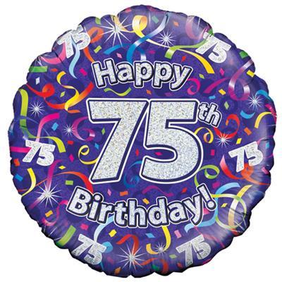 75th Birthday Balloon Rays Florist Aldershot Add on Gifts